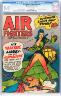 Golden Age (1938-1955):War, Air Fighters Comics V2#2 (Hillman Fall, 1943) CGC VG/FN 5.0Off-white pages....