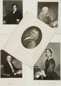 Autographs:Inventors, Five Engravings of Eighteenth- and Nineteenth-Century Doctors andNurses,... (Total: 5 Items)