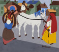 Fine Art - Painting, American:Contemporary   (1950 to present)  , JACOB LAWRENCE (American, 1917-2000). Another Journey Ended, 1967. Gouache on paper. 10-1/2 x 11-1/2 inches (26.7 x 29.2...