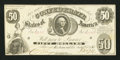 Confederate Notes:1861 Issues, T8 $50 1861 PF-2 Cr. 15.. ...