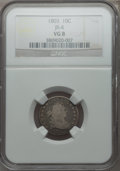 Early Dimes, 1803 10C JR-4, R.5, VG8 NGC....