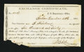 Confederate Notes:Group Lots, Interim Depository Receipt Bonham, TX- $660 December 23, 1864Tremmell TX-6.. ...