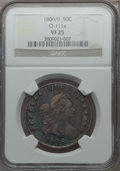 Early Half Dollars, 1806 50C 6 Over Inverted 6, O-111a, R.4, VF25 NGC....