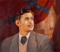 "Movie/TV Memorabilia:Original Art, A Clark Gable as ""Rhett Butler"" Oil Painting Signed by ArmandoSeguso, 1939...."