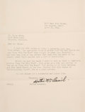 "Movie/TV Memorabilia:Autographs and Signed Items, A Hattie McDaniel Signed Letter Related to ""Gone With The Wind,""1941...."