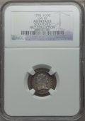 Early Half Dimes, 1795 H10C V-4, LM-10, R.3 -- Scratches -- NGC Details. AU....