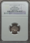 Early Half Dimes, 1797 H10C 15 Stars, V-2, LM-1, R.3 -- Bent, Scratches -- NGCDetails. AU....