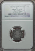 Early Dimes, 1798/97 10C 13 Stars Reverse, JR-2, R.6 -- Repaired -- NGC Details.Good....