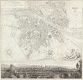 Fine Art - Painting, Russian, FRANCESCO ROSASPINA (Italian, 1762-1841). Map of Florence,1832. Etching. 24-1/2 x 25-1/2 inches (62.2 x 64.8 cm) (sight...