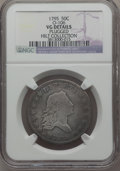 Early Half Dollars, 1795 50C -- Plugged -- 2 Leaves, O-106, R.6, NGC Details. VG....