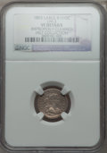 Early Half Dimes, 1803 H10C Large 8, V-2, LM-3, R.3 -- Improperly Cleaned -- NGCDetails. VF....
