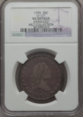 Early Half Dollars, 1795 50C -- Damaged -- 2 Leaves, Small Head, O-127, High R.6, NGCDetails. VG....