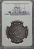 Early Half Dollars, 1795 50C -- Repaired -- 2 Leaves, O-131, High R.4, NGC Details.VF....
