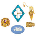 Estate Jewelry:Lots, Group of Multi-Stone, Diamond, Gold Jewelry. ... (Total: 5 Items)