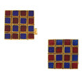 Estate Jewelry:Cufflinks, Enamel, Gold Cuff Links. ...