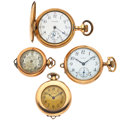 Timepieces:Other , Three Pendants & One Hunter's Case Watches. ... (Total: 4Items)