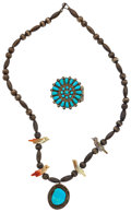 Estate Jewelry:Lots, Turquoise, Shell, Silver Jewelry. ...