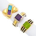 Estate Jewelry:Rings, Multi-Stone, Gold, Silver Rings. ...