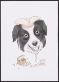Mainstream Illustration, Lilly Piri. Doodle for Hunger. 8 x 6 in.. Colored Pencil onPaper. Estimate $100-300. ...