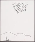 Mainstream Illustration, Pete Seeger. Doodle for Hunger. 11 x 9.25 in.. Ink on paper.Estimate $100-300. ...