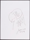 Mainstream Illustration, Ted Lewin. Doodle for Hunger. 12 x 9 in.. Crayon on paper.Estimate $100-300. ...