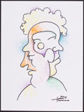 Mainstream Illustration, Dick Termes. Doodle for Hunger. 12 x 9 in.. Ink and crayonon paper. Estimate $100-300. ...
