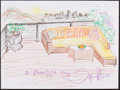 Mainstream Illustration, Sofia Milos. Doodle for Hunger. 9 x 12 in.. Crayon on paper.Estimate $100-300. ...