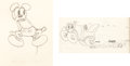 Animation Art:Production Drawing, Mickey's Rival Mickey Mouse and Roadster Animation DrawingGroup (Walt Disney, 1936)....