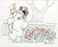 Animation Art:Production Drawing, Frosty the Snowman Storyboard Illustration by Dan Duga(Ranking/Bass, 1969)....
