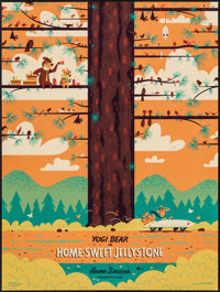 "Home Sweet Jellystone by Andrew Kolb (Mondo, 2014). Numbered Limited Edition Screen Print Poster (18"" X 24"")..."