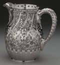 Silver Holloware, American:Pitchers, A DOMINICK & HAFF SILVER WATER PITCHER, New York, New York,circa 1884. Marks: (rectangle-circle-diamond), 925, 1884,STER...