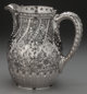 A DOMINICK & HAFF SILVER WATER PITCHER, New York, New York, circa 1884 Marks: (rectangle-circle-diamond), 925, 1...