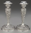 Silver & Vertu:Hollowware, A Pair of Jenkins & Jenkins Weighted Silver Candlesticks, Baltimore, Maryland, circa 1908-1915. Marks: JENKINS & JENKINS. ... (Total: 2 Items)
