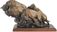 SHERRY SALARI-SANDER (American, b. 1941) American Bison, 1987 Bronze with brown patina 19 inches