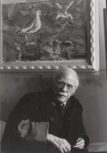 Photographs, Todd Webb (American, 1905-2000). Alfred Stieglitz at an American Place, 1946. Gelatin silver, 1976. 6-1/2 x 4-1/2 inches...