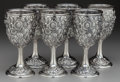 Silver Holloware, American:Water Goblet, A SET OF SIX KIRK & SON SILVER WATER GOBLETS, Baltimore,Maryland, circa 1890. Marks: S. KIRK & SON, STERLING,402F. 6-7... (Total: 6 Items)