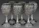 A SET OF SIX KIRK & SON SILVER WATER GOBLETS, Baltimore, Maryland, circa 1890 Marks: S. KIRK & SON, STER...