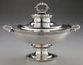 Silver & Vertu:Hollowware, A TIFFANY & CO. SILVER COVERED SOUP TUREEN, New York, New York, circa 1856-1864. Marks: TIFFANY & CO., ENGLISH STERLING, 9... (Total: 2 Items)