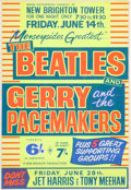 Music Memorabilia:Posters, Beatles/Gerry and the Pacemakers New Brighton Tower Concert Poster(NEMS, 1963)....