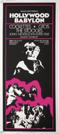 "Music Memorabilia:Posters, The Stooges (Iggy Pop) Rare ""Hollywood Babylon"" Concert Poster,1971..."