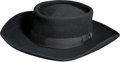"Movie/TV Memorabilia:Costumes, A Christopher Dark Period Western Hat from ""Bonanza.""... (Total: 2Items)"