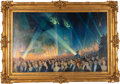 Movie/TV Memorabilia:Original Art, A Stunning Hollywood-Themed Oil Painting by Salvador Tarazona,1930....