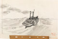 Animation Art:Production Drawing, Pinocchio Boat and Pleasure Island Dock Concept Art Group(Walt Disney, 1940).... (Total: 2 Original Art)