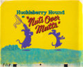 """Animation Art:Production Cel, The Huckleberry Hound Show """"Nuts Over Mutts"""" ProductionTitle Cel Setup with Background and Worksheet (Hanna-Barbera, ...(Total: 2 )"""