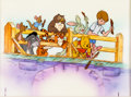 Animation Art:Production Cel, Winnie the Pooh and Eeyore Winnie and Friends Production CelSetup with Key Master Background (Walt Disney, 1980s/90s)...