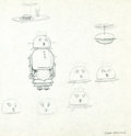 Animation Art:Production Drawing, The Jetsons Rosie the Robot Concept Art Drawing and ColorModel Cel Group (Hanna-Barbera, 1962).... (Total: 2 Original Art)