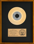 Music Memorabilia:Awards, John Lennon (Just Like) Starting Over RIAA Single GoldRecord Award (Geffen Records GEF49604, 1980)....