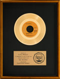 Music Memorabilia:Awards, Elvis Presley Suspicious Minds RIAA Single Gold Record Award(RCA 47-9764, 1969)....