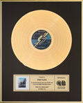 Music Memorabilia:Memorabilia, Pink Floyd Wish You Were Here Gold Record Award, Canada (Columbia PCA 33453, 1975)...
