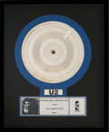 "Music Memorabilia:Memorabilia, U2 Original Metal Master Plate "" All I Want Is You"" (Island,1989)..."